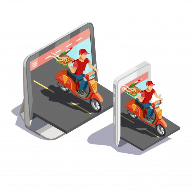 طراحی اپلیکیشن پیک موتوری آنلاین
